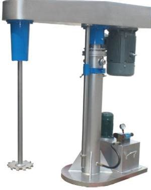 high speed disperser and dissolver mixer for paints