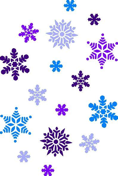 snowflake clipart multi blue snowflakes clip art