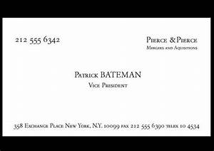 Business cards a cup of jo for Patrick bateman business card template