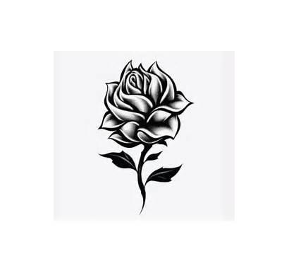 Rose Tattoo Single Clip Tribal Clipart Tattoos