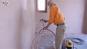 Peinture Basse Pression : peindre les murs au pistolet airless basse pression tuto brico avec robert pour peindre un mur ~ Melissatoandfro.com Idées de Décoration