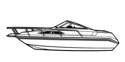 Malibu Boat Drawing by Semi Custom Cover For High Profile Cabin Cruiser With