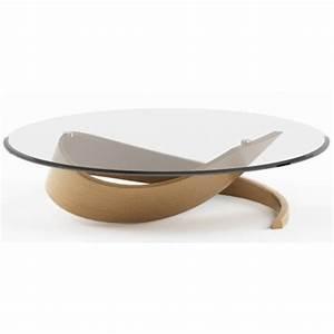 Table Ronde Verre Et Bois : table salon bois et verre table basse ronde modulable maisonjoffrois ~ Teatrodelosmanantiales.com Idées de Décoration