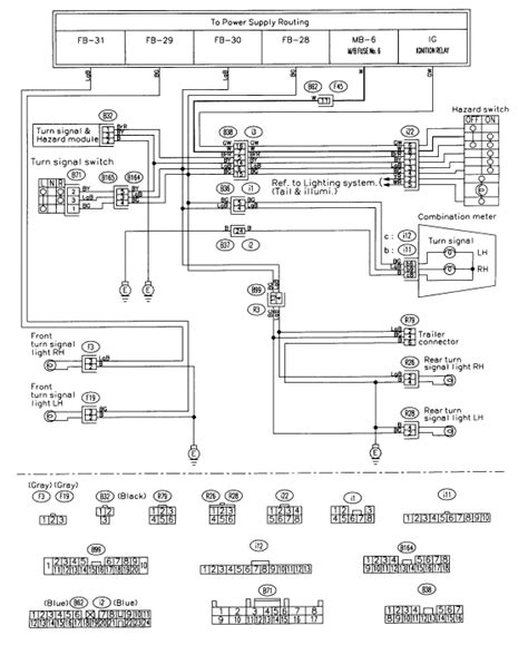 Subaru Ignition Switch Wiring Diagram by I A 1999 Subaru Forester The Right Side Turn Signal