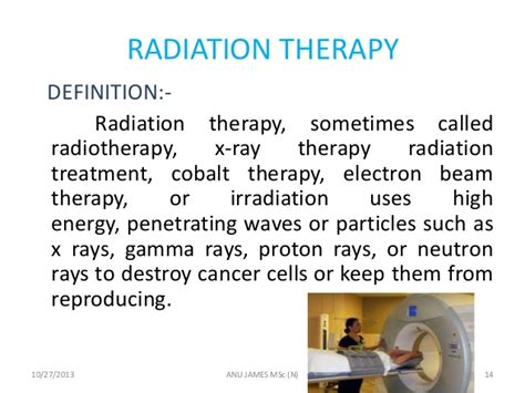 cancer lung radiation definition therapy ray management james