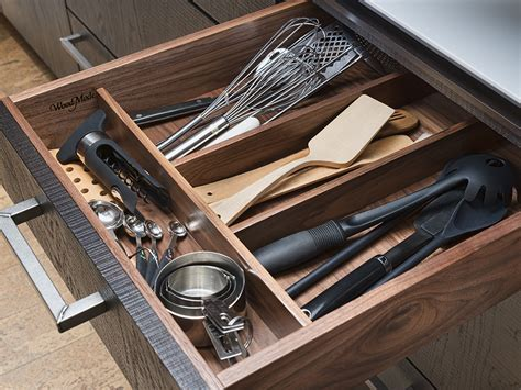 Wooden Cutlery Divider   Wood Mode   Fine Custom Cabinetry