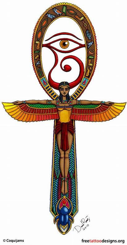 Egyptian Tattoo Tattoos Ankh Nefertiti Designs Horus