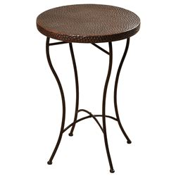 hammered copper table ls on sale hammered copper top round accent table