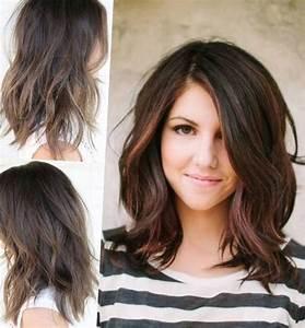Coupe De Cheveux Pour Visage Long : coiffure cheveux mi long visage rond tendances 2019 ~ Melissatoandfro.com Idées de Décoration