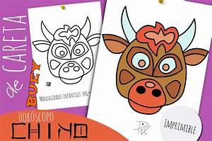 Máscara de Buey Horóscopo Chino Manualidades Infantiles