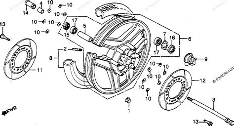 honda motorcycle 1983 oem parts diagram for front wheel partzilla