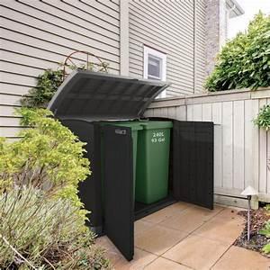 Coffre De Jardin En Resine : coffre de jardin ou cache poubelle en r sine 1200l keter ~ Teatrodelosmanantiales.com Idées de Décoration