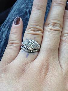 the perfect wedding bands to go with my 192039s vintage With perfect wedding ring