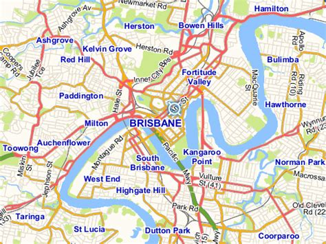 brisbane map  brisbane satellite image
