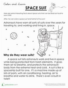 What Is a Space Suit? | Coloring Page | Education.com