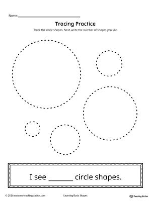 geometric shape counting and tracing circle