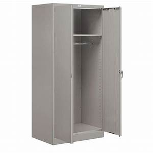 Salsbury Industries 9100 Series 78 In H X 24 In D Wardrobe Storage Cabinet Assembled In Gray