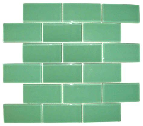 light blue subway glass tile contemporary wall and