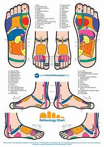 A Reflexology Chart Of The Whole Foot
