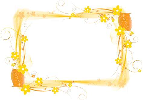 Marco de foto con flores amarillas PNG Marcos de flores PNG