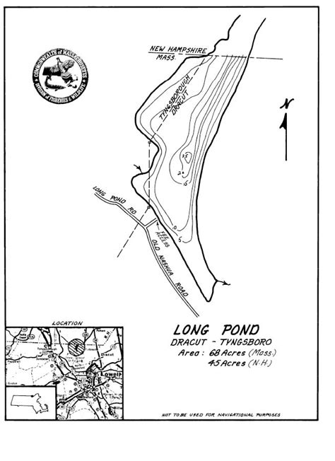 long pond map dracut tyngsboro ma