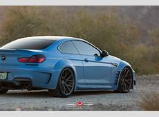Yas Marina Blue BMW 650i with Prior Widebody Kit and