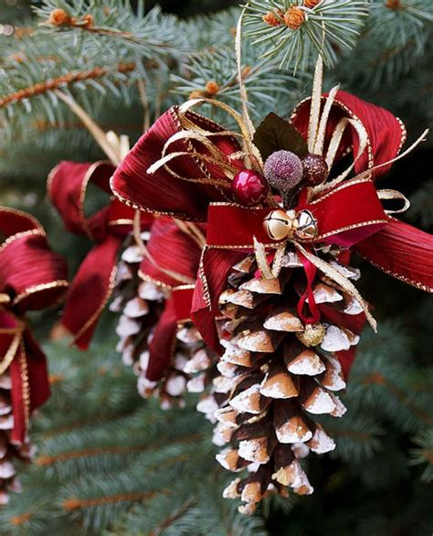 christmas pine decorations pine cone christmas ornament this ornament set is great for christmas decoration for gift giving