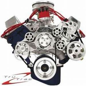 Tru Trac Serpentine System  Polished  Fe Engines  Without