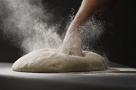 bread baking      punch  dough