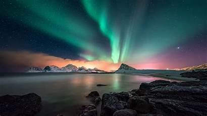 Aurora Norway Lofoten Night Lights Borealis Sky