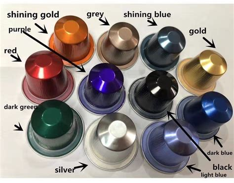 china customized nespresso compatible coffee capsule recyclable environmental friendly aluminum