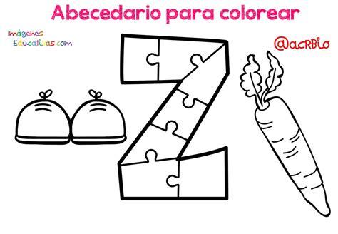 Abecedario para colorear (27) Imagenes Educativas