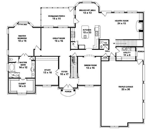 5 Bedroom House Plans 2 Story by 653616 2 Story Style Floor Plan With 5 Bedrooms