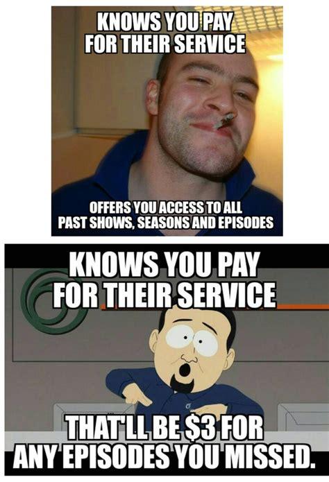 Cable Meme - good guy hbo vs scumbag cable company meme guy