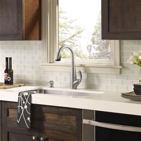 kitchen backsplash tile with white cabinets white glass tile backsplash white countertop with dark