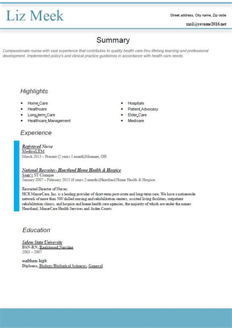 Best Style Resume by Resume Format 2016 12 Free To Word Templates