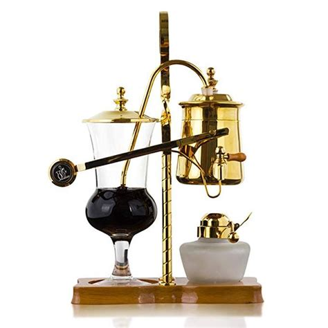 Siphon coffee makers are also called vacuum coffee makers and with their hour glass type designs, they would be a perfect addition in doc brown's garage! Belgian Belgium Royal Family Balance Siphon Syphon Coffee Maker with Tee handle Gold Color,1 Set ...