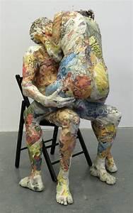 Sculpture En Papier Maché : awesome newspaper sculptures by will kurz gift ideas creative spotting ~ Melissatoandfro.com Idées de Décoration