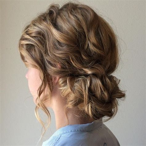 Updo Hairstyles For Curly Medium Length Hair 60 easy updo hairstyles for medium length hair in 2019