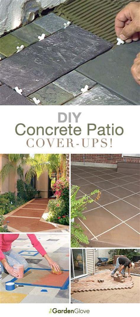 diy concrete patio cover ups inredning