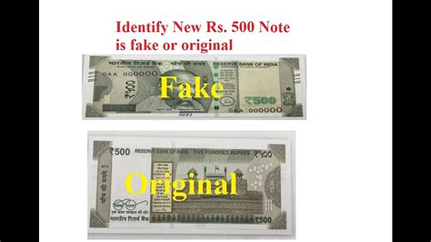 How To Identify New Rs 500 Note Original Or Fake Youtube