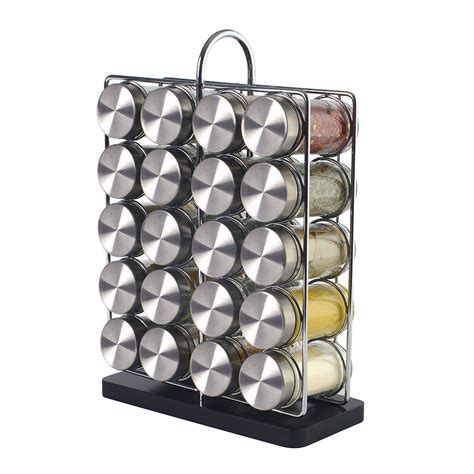 Spice Rack 20 by Brand New Procook Contemporary Spice Rack 20 Jars With