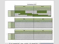 Urlaubsplanung 2015 Excel Vorlagen für jeden Zweck