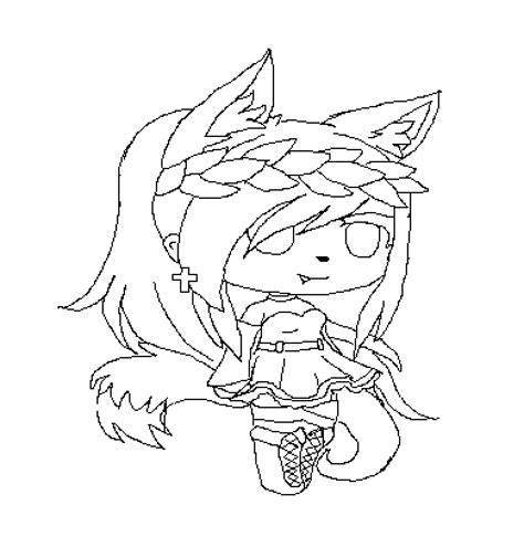 pixilart wolf girl base  hidruz