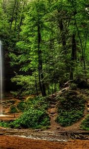 usa, Waterfalls, Crag, Ash, Cave, Ohio, Hocking, Hills ...
