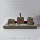 5pcs Set Of Wood Grains Marble Bathroom Sets Natural Stone