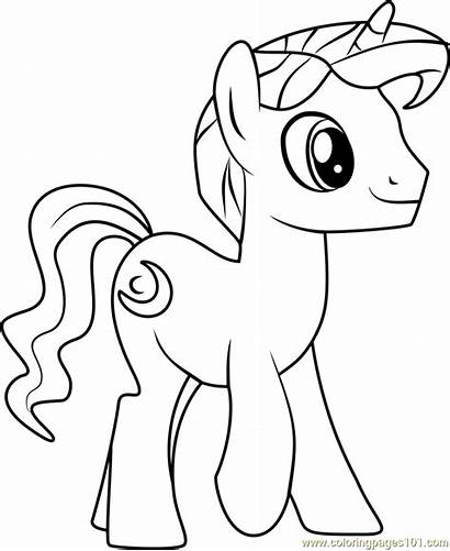 Coloring Night Pony Friendship Magic Coloringpages101 Pdf