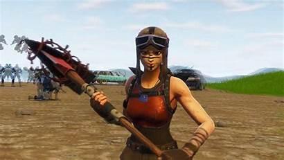 Raider Renegade Fortnite Wallpapers Skin Holding Pickaxe