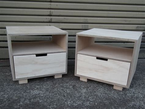 handkrafted plywood bedside tables handmade  kirsten