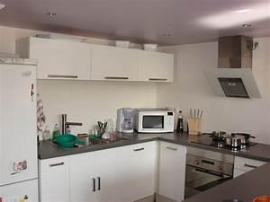 cuisine ikea blanche With peinture blanc laque pour meuble